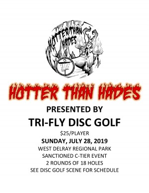 Hotter than Hades Presented by Tri-Fly Disc Golf graphic