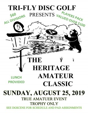 The 5th Annual Heritage Amateur Classic Presented by Tri-Fly Disc Golf and Sponsored by Dynamic Disc graphic