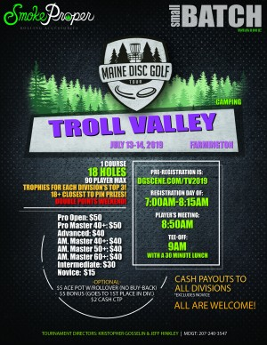 Maine Disc Golf Tour 2019: Troll Valley graphic