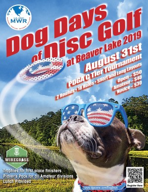 The Dog Days of Disc Golf at Beaver Lake graphic