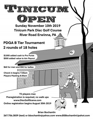 Tinicum Open presented by Discmania graphic