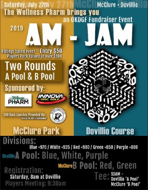 2019 Tulsa Am-Jam Presented by The Wellness Pharm and Sponsored by Innova Disc Golf graphic