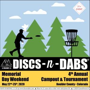 Discs-n-Dabs® 2020: Tournament & Campout graphic