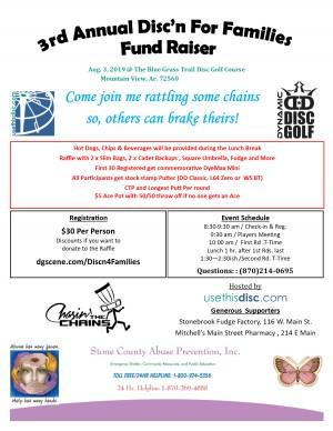 3rd Annual Disc'n for Families fund Raiser graphic