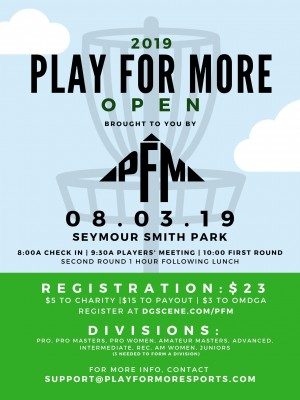 2019 Play For More Open graphic