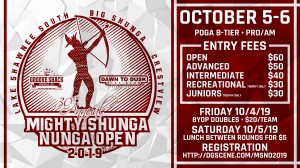 2019 Mighty Shunga Nunga Open graphic