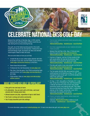 2019 National Disc Golf Day graphic
