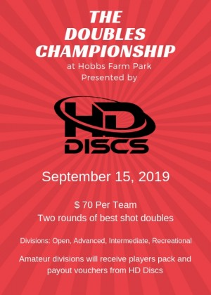 The Doubles Championship at Hobbs Farm Park - Presented by HD DISCS graphic