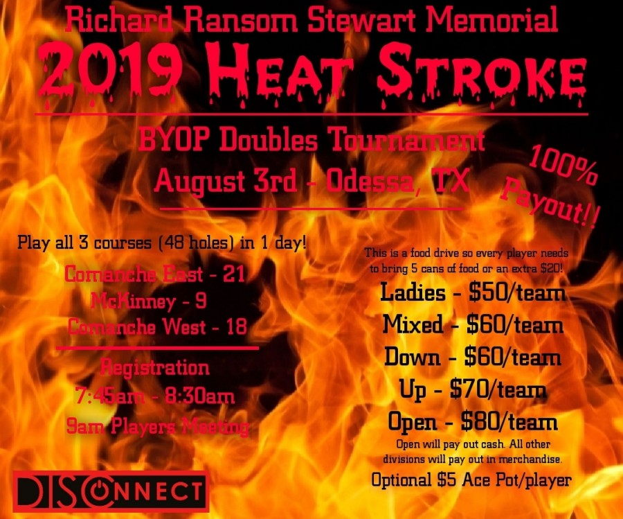 Richard Ransom Stewart Memorial - 2019 Heat Stroke presented