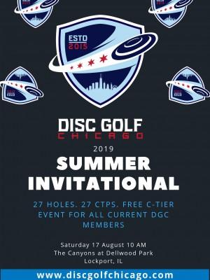 Disc Golf Chicago Summer Invitational graphic