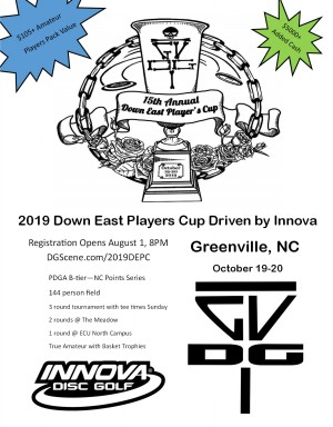 2019 Down East Players Cup Driven by Innova graphic