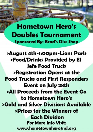 Hometown Hero's Doubles Tournament graphic