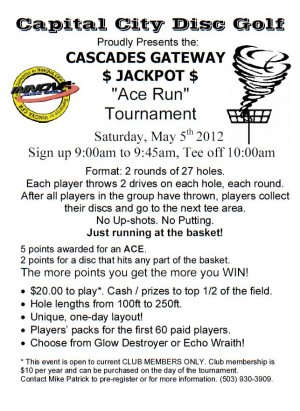 4th Annual Cascades Jackpot graphic