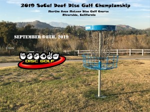 19th Annual SoCal Deaf Disc Golf Championship graphic