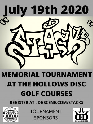 """The Jason """"$tack$"""" Barry  Memorial Sponsored by Dynamic Discs graphic"""