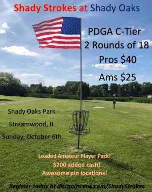 Shady Strokes at Shady Oaks - presented by Birdbrain Disc Golf Club graphic