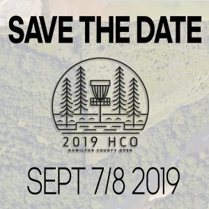 (pro, promasters, prowomen, Ma2, Ma4) , HDGU and CHUBB DISC GOLF present the Hamilton County Open 2019 graphic