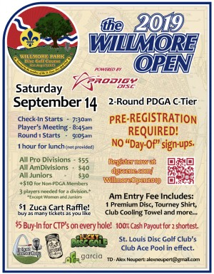 The 2019 Willmore Open, Powered by Prodigy graphic