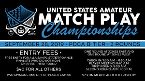 United States Amateur Match Play Championships Bonus B-Tier presented by Dynamic Discs (September 2019) graphic