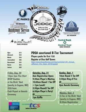 12th Annual Jefferson City Open graphic