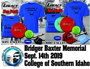 Bridger Baxter Memorial 2019 presented by Legacy Discs graphic