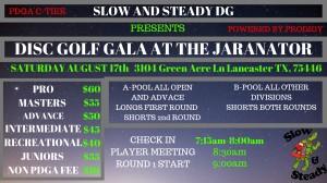 Disc Golf Gala at the Jaranator graphic
