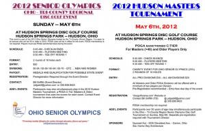2012 Hudson Masters / Senior Olympics graphic