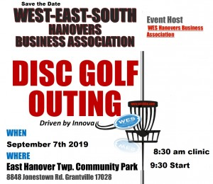 WESHBA Disc Golf Tournament Driven by Innova graphic