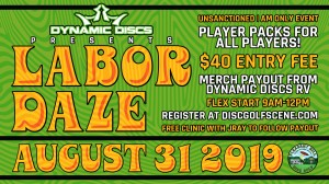Labor Daze presented by Dynamic Discs graphic