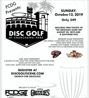 Fresno Grizzlies Disc Golf Package 2019 graphic