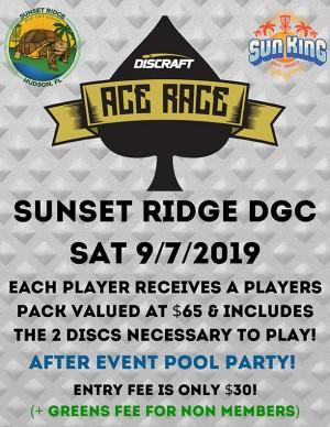 Sun King presents Discraft Ace Race + Pool Party @ Sunset Ridge DGC graphic