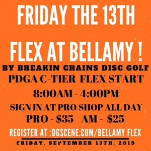 Friday the 13th Flex at Bellamy graphic