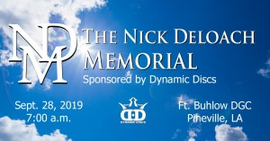 The Nick Deloach Memorial presented by Dynamic Discs graphic