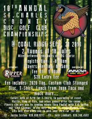 10th Annual St. Charles County Disc Golf Club Championship graphic