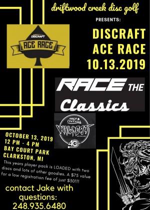 Driftwood Creek's Discraft Ace Race graphic