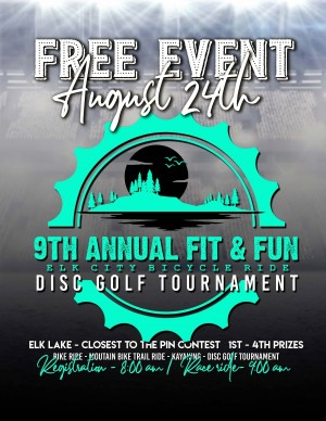 Fit & Fun Bicycle Ride & Disc golf tournament graphic