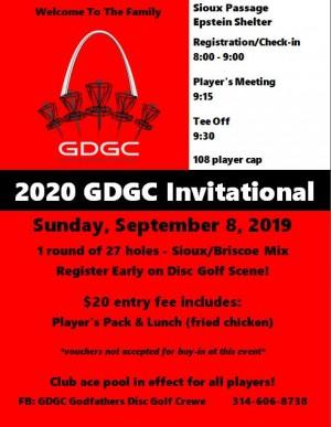 Godfather's Disc Golf Crewe 2020 Invitational graphic