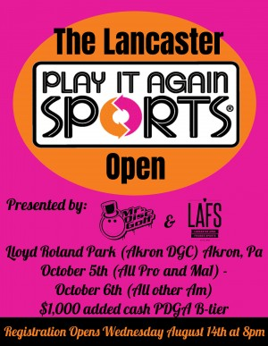 The Lancaster Play It Again Sports Open (All Am except Ma1) graphic
