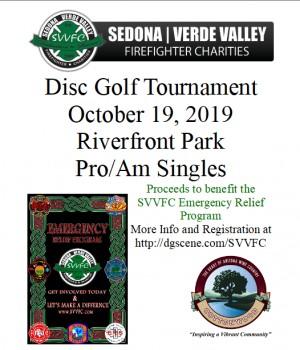 Sedona-Verde Valley Firefighter Charities Inaugural Disc Golf Tournament graphic