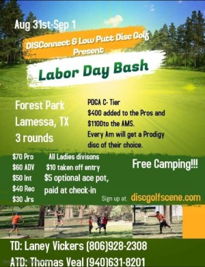 Lamesa Labor Day Bash with DISConnect & Low Putt graphic