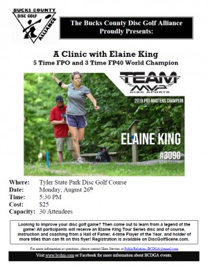 Elaine King Clinic Hosted by the BCDGA graphic
