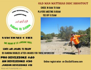 OLD MAN MATTHIAS DISC SHOOTOUT graphic