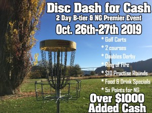 6th Annual Disc Dash for Ca$h (NG Premier) graphic