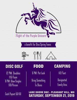Flight of the Purple Unicorn - Glow graphic