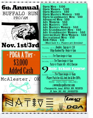 6th Annual Buffalo Run Presented by Native Disc Golf graphic
