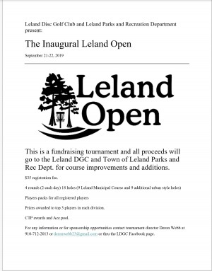 Inaugural Leland Open graphic