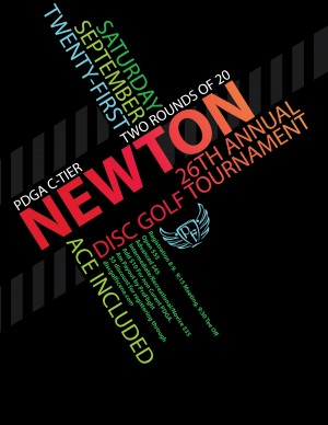 Newton Parks 26th Annual Disc Golf Tournament presented by ProFlight graphic