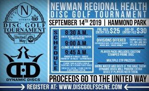 2019 Newman Regional Health Disc Golf Tournament graphic