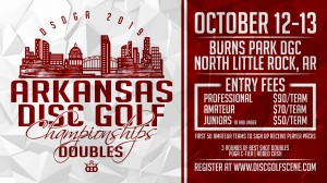 Dynamic Discs Presents: Arkansas Disc Golf Doubles Championships 2019 graphic