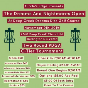 Circles Edge presents Dreams and Nightmares Open graphic